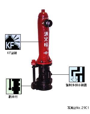 地上式単口消火栓 No.29C1 (No.28C1) 短管なし・乙管なし仕様