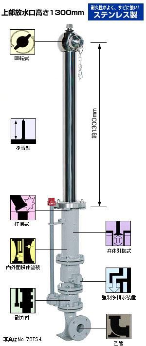 多雪型単口消火栓 (地上部ステンレス製)No.78TS-L (No.77TS-L)