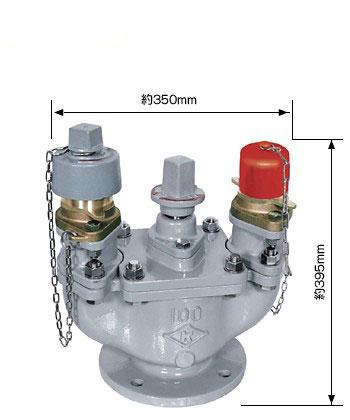 水道用地下式消火栓(双口) JWWA B103 双口-100