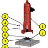 地上式消火栓 地上部の組立手順書