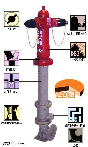 地上式双口消火栓 No.39WA (No.39WA)
