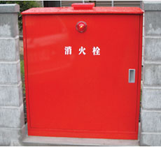 屋外格納箱型消火栓(不凍式)BH 赤色