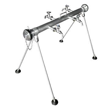 応急給水栓(連結型)KW06 差込み式接続、ハンドル式水栓仕様