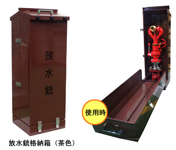 ギアー式放水銃 WC-G-02 放水銃格納箱